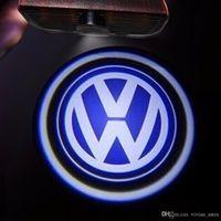 logos vw r al por mayor-Luz LED para proyector con logotipo de puerta PARA VW Passat B6 b7 Golf 5 6 7 Jetta MK5 MK6 CC Tiguan Scirocco con VW R R logo