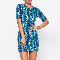 ingrosso abiti scontati europei-2018 Esplosioni nell'estate della nuova moda europea e americana Slim Hip Print Dress Dress Skirt Negozi all'ingrosso e al dettaglio