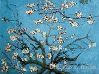 berühmte moderne kunst gemälde großhandel-handgemalte Gemälde Vincent van Gogh berühmte Gemälde Reproduktion Mandelblüte Wand Art Deco Wohnzimmer mit modernen dekorativen Gemälden u