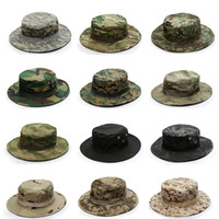 Tactical Airsoft Sniper Camouflage Boonie Hats Nepalese Cap Militares Army  Mens Military Hiking Hats Summer Bucket Hat Fishing ea07b7cef17c