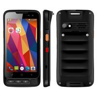 Wholesale fingerprint scanners - IP67 Waterproof NFC 1D 2D Android Handheld Barcode Scanner 5 Inch Octa Core 4000mAh Battery 16GB ROM Fingerprint Unlock Cell Phohe