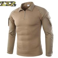 Wholesale army full combat uniform online - Military Uniform Multicam Army Combat Hiking Shirt Uniform Tactical Shirts Camouflage Hunting Clothes For Fishing Long Sleeve C18111401