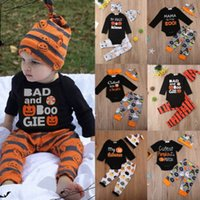 infant baby boy girl scary pumpkins halloween tops cotton pants outfits costume