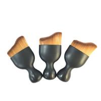 Wholesale beauty cosmetics logos - Soft Wine Glass Shaped Brush Foundation Brush Cream Puff Brushes Power Wine Glass Shaped Makeup Beauty Cosmetic Brush no logo 2805070