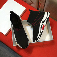 Wholesale Stretch Light - BL Speed Runner Stretch knit sneakers Fashion Black Wholesale Outdoor Boots Sports Running shoes for Women men canvas Sneakers
