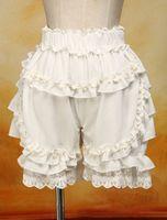 ingrosso i merletti fioriscono i bloomers-Chiffon Ruffles estivo carino pizzo donne Costume zucca Shorts Lolita Bloomers