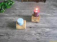 ingrosso candele decorative cinesi-50pcs Il log originale unico foro candela Taiwan in legno candeliere ornamenti retrò romantico creativo cinese minimalista Decor