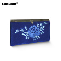 Wholesale vintage embroidered flowers bag for sale - Group buy EXCELSIOR Women Ethnic National Retro Flower Bags Handbag Coin Purse Embroidered Lady Clutch Tassel Small Flap Summer Bolsa Sale