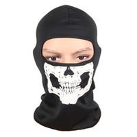 pirata de fita vermelha venda por atacado-Máscara de bicicleta Ciclismo Skate Motocicleta Crânio Equitação Chapéu Balaclava Protect Full Face Máscara de festa do dia das bruxas # 2a13