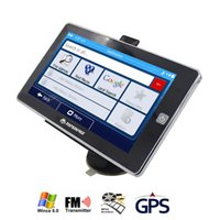 Wholesale TOPSOURCE Inch Car truck GPS Navigation navigator Win CE Mhz FM DDR3 M GB CE6 Navitel Europe USA spanish Map Free