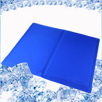 Wholesale blue dog carriers resale online - Hot sales Pet dog mat car Cool Ice Pad Teddy Mattress Mat Small Large Dogs Cat Cushion Summer Keep Cool Bed Pet Dog Cat Pad carrier Mat