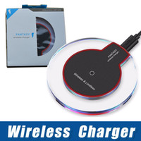 Wholesale qi wireless note online – qi wireless charger for samsung iphone x plus s7 s8 s9 note with retail package