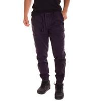 calças de carga de hip hop preto venda por atacado-Calças Dos Homens negros Homens Comprimento Bolso Hip Hop Corredores Calças Calças Dos Homens Streetwear Calças Plus Size M-3XL