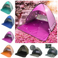 Wholesale Single Person Beach Tent - Outdoor Quick Automatic Opening Tents Portable Pop Up Beach Tent Outdoor Tent Camping Fishing Tents For 2-3 Person LJJK1007