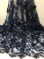modèles de robe pour la couture achat en gros de-Coudre Dentelle Fleur Africaine Dentelle Tissu DIY Femmes Mode Vêtements Haute Qualité Dentelle Dress Designs femmes Robes De Soirée FCL1826lee #