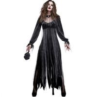 d0094da1ec Disfraz de Zombie Bride Disfraz de Halloween para mujer Disfraz de Corpse  Fantasma para Cosplay Halloween Party Stage Wholesale