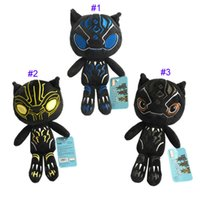 Wholesale superheroes plush toys - 10 Inch Black Panther movie Plush dolls toys 25cm 2018 New children Avengers Superhero cartoon soft Plush dolls toys 3 Color B
