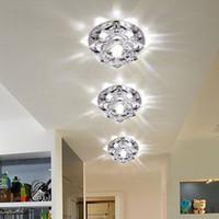blumendecke großhandel-Kristallblumen Spotlights Down Lights 5W Led Gang Licht Kreative Wohnzimmer Flure Gehwege Led Deckenleuchten
