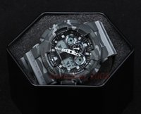 Wholesale new digital camouflage - Top quality AAA relogio GA100 Camouflage shock men's sports watches, Luxury brand men watch LED military watch, digital watch