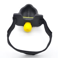 Wholesale silicone sex toy head resale online - silicone Urine open mouth gag head harness gag bdsm bondage sex slave fetish wear erotic games adult sex toys for couples