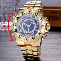 Wholesale Black Watch Red Face - Men's Luxury Invicta High-grade Brazil Aaa Watches Big Face Brand Stainless Steel Quartz Designer Watch Relogios Masculinos Case Can Rotate