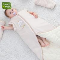 ingrosso letti per neonati per bambini-Inverno addensato Baby Sleepers Bedding bambini Sacco a pelo Organic Coon Zipper Bambini Infant Boy Girl Tuta staccabile 2018