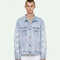 de38f7a806b 18SS C   O temperatura VIR GIL AB LOH Chaqueta de mezclilla azul entintado  impreso hombres mujeres abrigos moda Highstreet Hip Hop chaqueta de  mezclilla ...