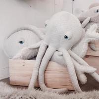 Wholesale Kids Decorative Pillows - Cartoon Room Decor Octopus Cushion Soft Sleeping Doll Kids Baby Girl Mini Stuffed Plush Toys Gifts Nap Decorative Pillow