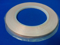Wholesale copper adhesive - Wholesale- 2016 1 Roll 5mm*30M*0.06mm Self-Adhesive Copper Foil Tape for Magnetic Radiation  Electromagnetic Wave EMI Shielding Masking