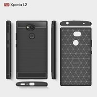 Wholesale mobilephone cases - Mobilephone Cases For Sony Xperia L2 TPU Carbon Fiber heavy duty case for Sony L2 back cover Free shipping