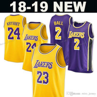 2019 New Los Angeles Laker Jersey 23 LeBron James 24 Kobe Bryant 2 Lonzo  Ball 0 Kyle Kuzma Jerseys Uomo Kid cucito Basketball maglie 6 4b52ad9f3501