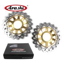 Arashi CBR1000 Front Brake Disc For Honda CBR1000RR 2006 2007 RR 1000RR Brake Disk Rotors VTR SP1 RC51 1000 2000 2001 2002 2003 2004 Black