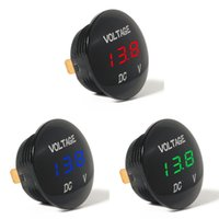 Discount car thermometer led - Waterprof Car LED 12-24V Short Circuit Protective Battery Monitor Accurate Digital Display Voltage Meter Thermometer Hot Sale