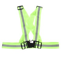 Wholesale cycling visibility resale online - High Visibility Outdoor Cycling Safety Vest Bike Ribbon Bicycle Reflecing Elastic Harness Vests for Night Riding Running Jogging