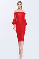 Wholesale white bridesmaid buttons online - Women Birthday avondjurk Formal Bridesmaid Banquet red caftan vestidos de festa coolie Dress abiye gece elbisesi