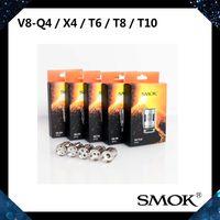 Wholesale Core Engines - SMOK TFV8 Coil Head Turbo Engine Coils V8-T10 V8-T8 V8-T6 V8-X4 V8-Q4 Replacement Core For TFV8 Cloud Beast Tank 100% Original