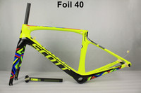 Wholesale taiwan road bike frames - 2018 NEW T1000 UD carbon full scott foil carbon road bike frame racing bicycle frameset taiwan frames size 47 - 56cm can be XDB ship