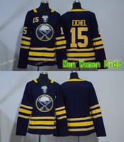 Wholesale Girls Jack - Men Women Youth Kids Buffalo Sabres 15 Jack Eichel Blank Blue Jerseys All Stiched Hockey Jersey Boy Girls