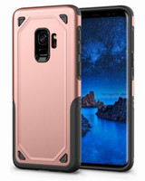Wholesale armor cellphone - Heavy Duty Armor Phone Case for Samsung Galaxy S9 S8 Plus, iPhone X 8 7 Plus Case High Quality Cellphone Cover