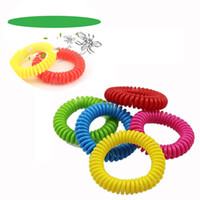 Wholesale Coil Springs Wholesale - Hot sale summer Natural mosquito bracelet portable Elastic Mosquito repellent circle children spring coil toy T3I0061