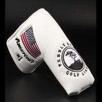 Wholesale life blade resale online - American No Flag Long Life Tree White Golf Putter Cover Headcover Closure For Blade Golf Putter