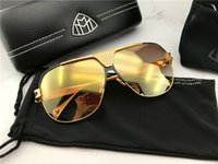 Wholesale Sunglasses For Men Original - 2018 new luxury car brand Maybach sunglasses B P-B-Z16 top quality 18K titanium gold design for men square halfframe with original case