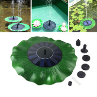 ingrosso arredamento piscina-Pompa ad acqua solare Floating Waterpomp Kit pannello Fontana Pool Pump Kit Lotus Leaf Fairy Garden Miniature Garden Home Decor