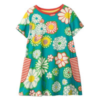 945cdde700e9 Everweekend Sweet Kids Girls Flowers Print Princess Vintage Fashion Dress  Clothing Children Girls Cotton Cartoon Dress
