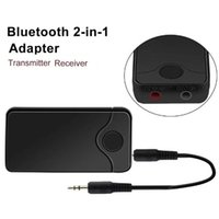 transmissor de fones de ouvido bluetooth venda por atacado-B18 Bluetooth adaptador de áudio sem fio Bluetooth transmissor e receptor 2-em-1 3,5 milímetros Car Kit para TV / Home Stereo Speaker Headphones Sistema