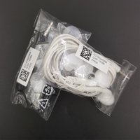 weißer apfel entfernt großhandel-A + Qualität In-Ear 3,5 mm Klinke Headset Mikrofon Fernbedienung Lautstärke Kopfhörer für Samsung Galaxy S5 S4 i9800 S6 Rand s7 s8 s9 note9 Weiß Schwarz