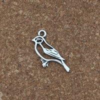 ingrosso uccello diy-Hollow bird Pendenti di Fascini 100 Pz / lotto 11x26.5mm Argento Antico Gioielli di Moda FAI DA TE Fit Bracciali Collana Orecchini A-245