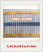 Wholesale resistor metal film ohm - Wholesale-Free Shipping 100pcs 300 ohm 1 4W 300R Metal Film Resistor 300ohm 0.25W 1% ROHS