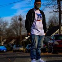 Wholesale Mountain Tee Shirts - 17FW N F x S Mountain TEE Box logo Hip Hop Comics Printed Skateboard Cool T-shirt Men Women Cotton Casual Cartoon T-Shirt HFLSTX028