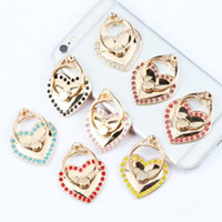 Wholesale Love Finger Rings - Luxury Love Couple Metal Anti Drop Finger Ring Holder for iphone x 7 6 6p 8p 6s 8 plus Cell Phone Universal Holder Bracket Wholesale